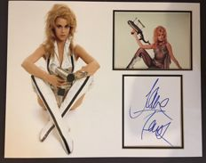 Jane Fonda signed Barbarella photo mount