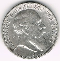 Germany, Baden - 2 Mark 1904 G - silver
