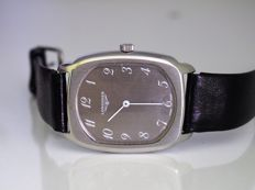 Longines - Vintage Rectangle Smoke Dial No Seconds - Men's Watch - 1960s