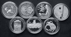 Germany - 10 Euro 2002/2011 Commemorative coins (7 different ones) - silver
