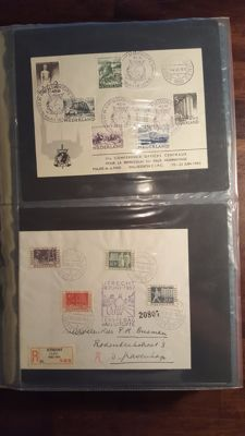 Netherlands 1950/1980 - Collection FDCs and special covers in Importa album