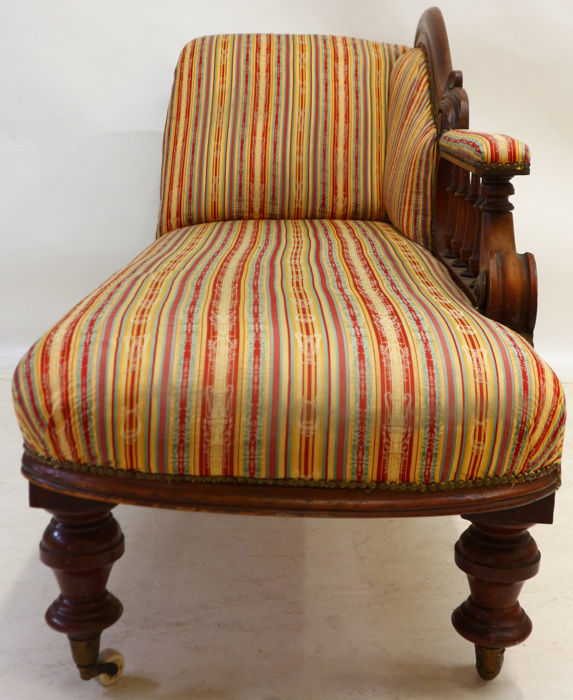 Mahogany victorian chaise longue english ca 1860 for Chaise longue in english