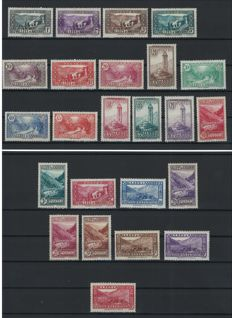 French Andorra 1932/1933 - Complete series - Yvert n°24/45 except 30A
