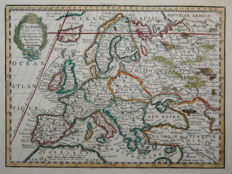 Europe; Jacques Chiquet  - L'Europe Dressee sur les Observations - 1719