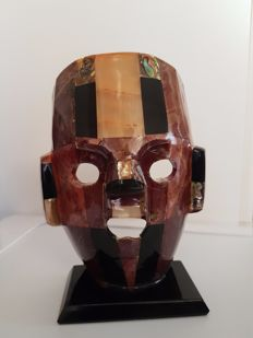 Rare mexican mask - 17 x 13 x 5 cm - 500 gm