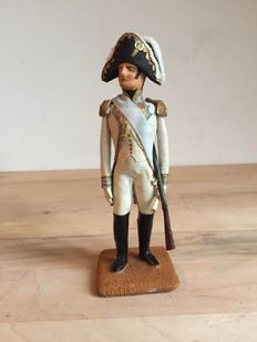 antique lead Jerome Bonaparte with real clothes - 19th century - France