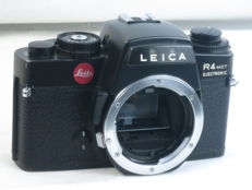 LEICA R4 MOT electronic, 35mm SLR camera body, made in Portugal by Leitz, ca. 1979