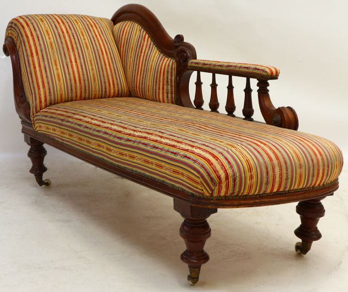 Mahogany Victorian chaise longue - English - ca. 1860 - Catawiki on chaise furniture, chaise sofa sleeper, chaise recliner chair,