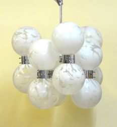 Carlo Nason for Mazzega - Pendant lamp with 12 lights - Murano
