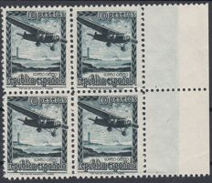 Spain 1939 - Airplane flight. Air mail. Not issued - Edifil NE38