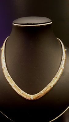 ANNE KLEIN gold toned Necklace with crystals