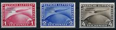 German Reich - 1933 - Chicago flight Graf Zeppelin, 1 RM, 2 RM, 4 RM, Michel 496-198, thorough verification by Schlegel BPP