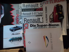 17 original Renault and Alpine brochures and 5 original Alpine photos and price list