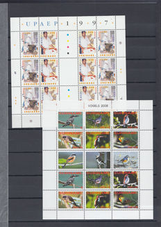 Suriname 1997/2010 - Selection of sheets and stamps in stock book