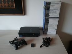 Complete PS2 Console with 32 PS2 Games (Good as New)