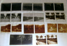 11 old very rare bike stereo glass slides of approx. 1910
