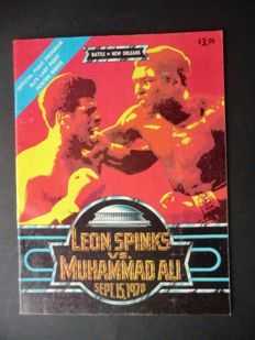 Official programme of the historic fight between Muhammed Ali and Leon Spinks on 15 September 1978