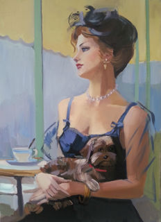 Max Magera (21th century) - Lady with little dog