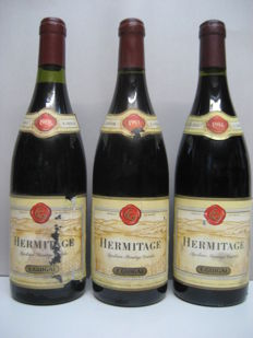 1989 - 1993 - 1994 Hermitage E. Guigal / 3 bottles in total