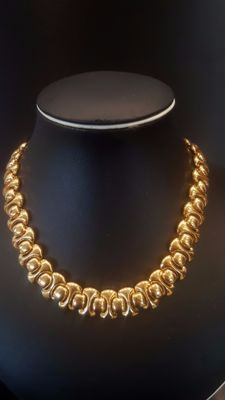 Stunning NAPIER 18kt gold plated Necklace with serial number