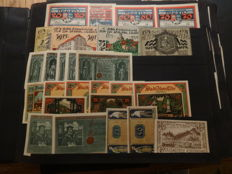 Germany / Austria - Emergency money, very extensive collection in album and loose (1963 different ones) with much better material