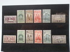 Portugal 1931/1933 – 2 Complete series 7th Centenary Death of Saint Anthony, with and without surcharge – Mundifil 531/536, 554/559.