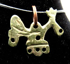 Early Medieval Viking period bronze zoomorphic pendant/amulet shaped as Raven - Wearable Gift - 25 mm