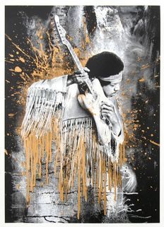 Mr Brainwash - Jimi (Gold)