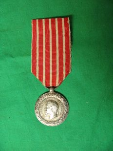 1859 Campaign of Italy medal - Napoleon III - silver