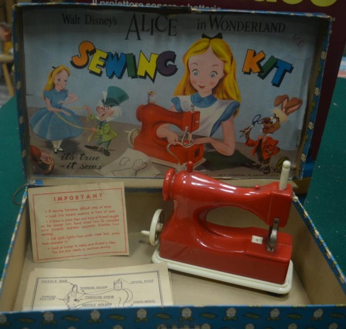 "Alice In Wonderland Sewing Kit"" Sewing Machine Of Alice In Classy Sewing Kit For Sewing Machine"