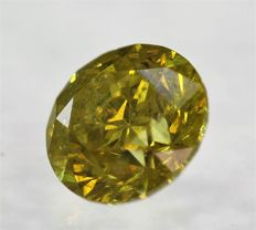 Big Fancy Canary Yellow Diamond - 1.53 ct - SI2 - LOW RESERVE