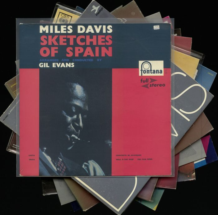 "Miles Davis - Lotto di 8 album incl. ""Sketches of Spain"" come una prima macchina da stampa usato"