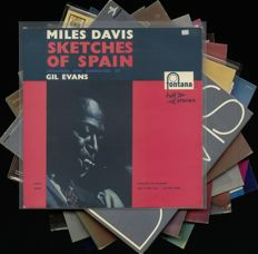 "Miles Davis - Lot of 8 albums incl. ""Sketches of Spain"" as an early Dutch full stereo press"