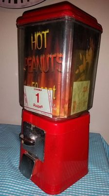 Old working peanut or gumball machine 1980s