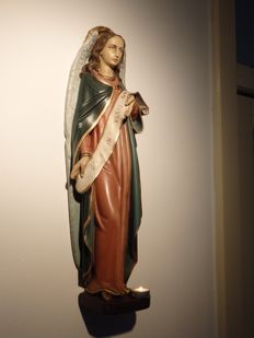 Large Saints Statue 'Archangel Gabriel' , Christmas Angel 'Gloria in excelsis Deo' - Brussels, Belgium - circa 1910