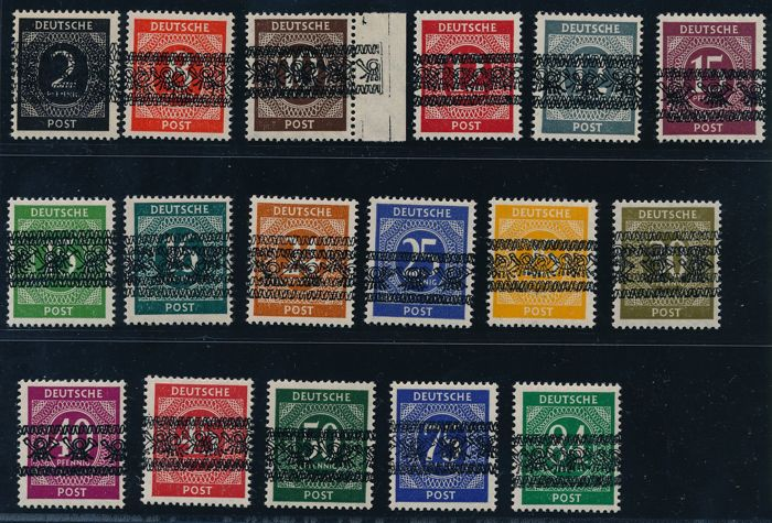 Allied occupation - 1948 - number series with Posthorn 