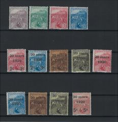 Monaco 1919/1920 - Selection for the benefit of war orphans - Yvert n°27 to 43