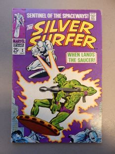 Marvel Comics - Silver Surfer #2 - With 1st appearance of the Badoon - 1x sc - (1968)