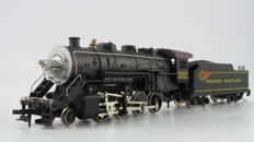 Mehano H0 - M9541 - Steam locomotive 1-8-0 with tender, comes in showcase - Western Maryland