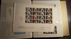 Collection of FDCs GDR of East Germany between 1971/1979 + collection of stamps 1968/1977 with first stamp stamp, 3 neat Ka-Be albums