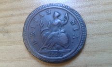 United Kingdom - ½ Penny 1719 George I - copper