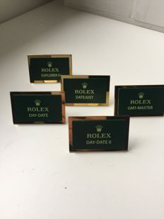 Rolex - 5 originele Rolex dealer plaques - 中性 - 2011至现在