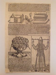 "Incunabulum - Loose sheet from Hartmann Shedel (1440-1514 ) - from ""Liber Chronicarum"" - 1493"