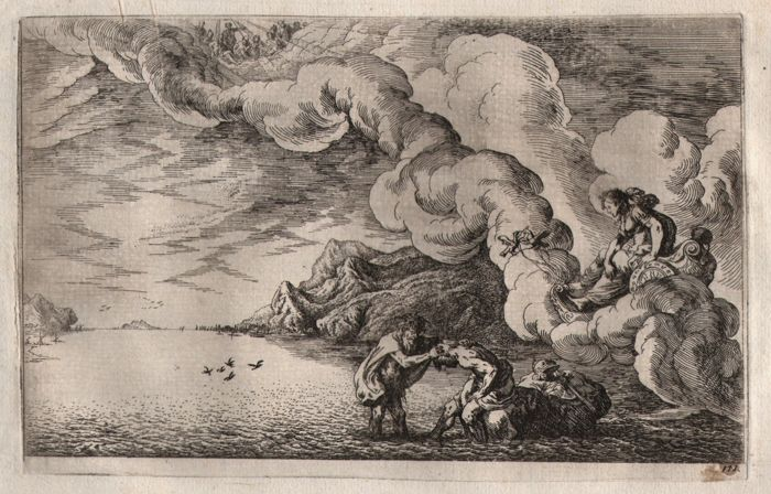 Johann Wilhelm Baur (1607-1640) - The deification of Aeneas / Ovid's Metamorphoses - 1641