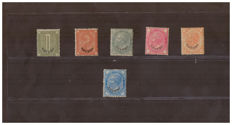 "Levant 1874/1879 - Sellection of vales with ""Estero"" overprint - Sass. no.  1/3, 7, 9/10"