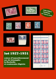 France 1927/1931 – Selection of stamps.