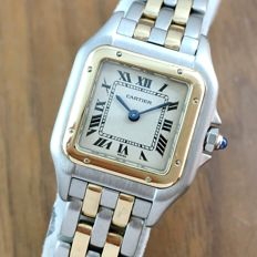 "Cartier 1120  "" Two Row Gold ""  Panthere  - Ladies watch"