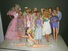 12 Barbie dolls 1970s - 1980s