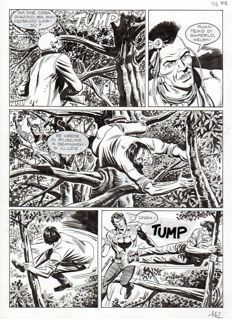 Di Vitto, Stefano and Domenico - a sequence of 2x original plates for Maxi Zagor no. 18 (2011)