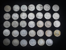 France – 50 centimes 1898/1920 'Semeuse' (lot of 34 coins) – Silver